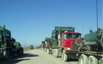 frack trucks
